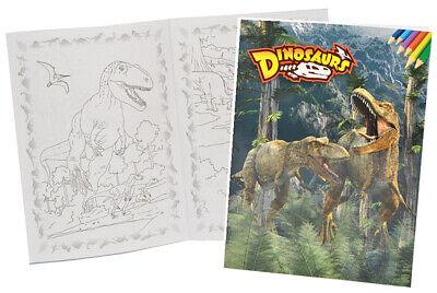 Malbuch A4 Dinosaurier Dino Malvorlagen Dinos Zum Ausmalen Malspass Gross Tyra Ebay
