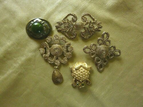 VINTAGE PINS- BROOCHES--  LOT OF 4 ASSORTED-&1 FRO