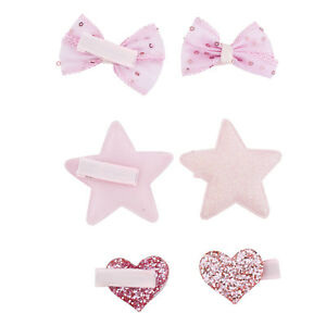 Lux Accessories Rose Gold Tone Sticker Glitter Metal Hair Clip Bobby Pin Set 6pc
