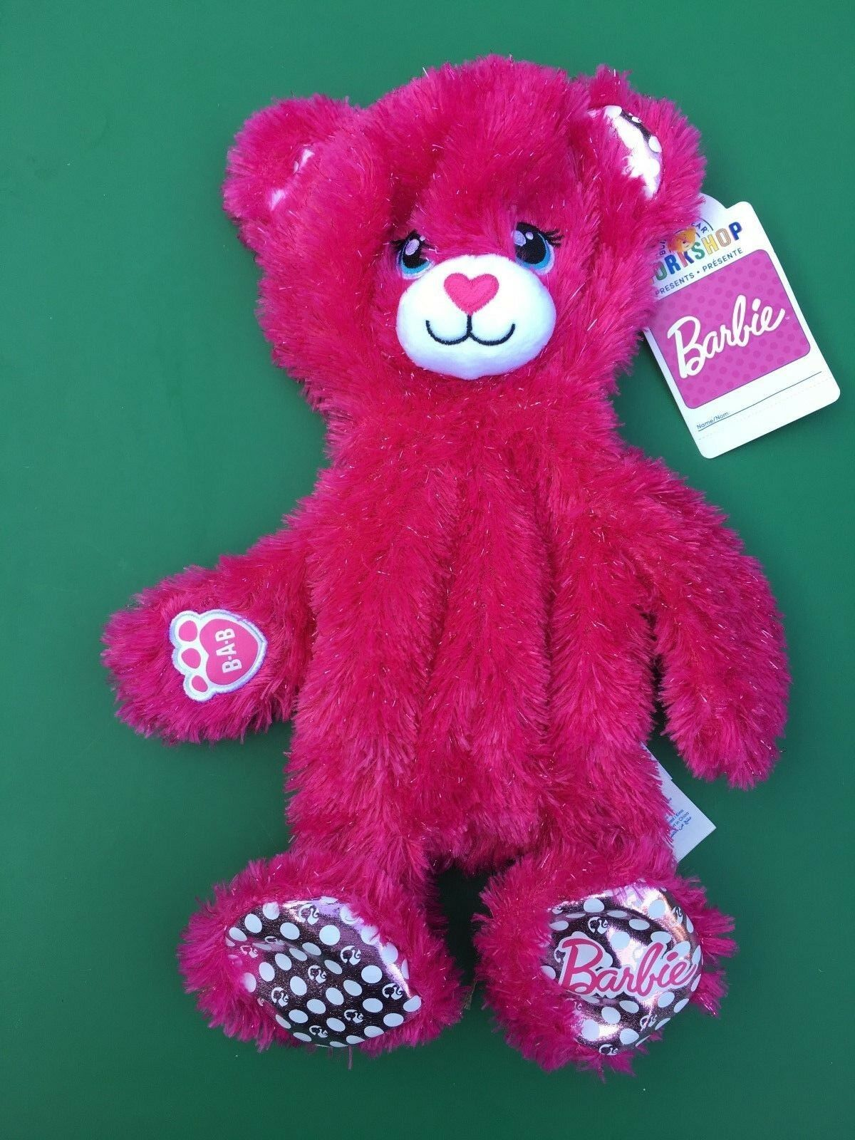 Build a Bear 16  Barbie Bear Plush Toy - Unstuffed - NWT