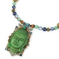 Sweet Romance Bold Vintage Style 1940's Buddha Necklace Made In Usa