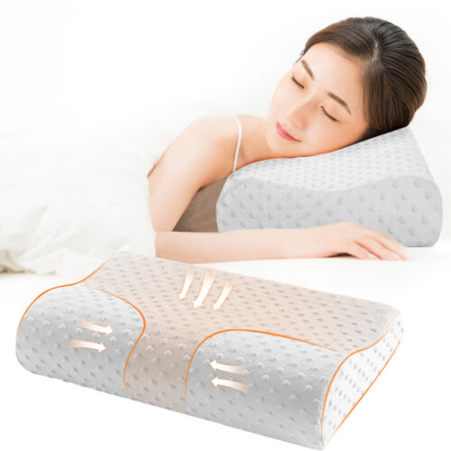 US Memory Foam Pillow Bamboo Pillow Cervical Pillow Neck Pain Support Back BY