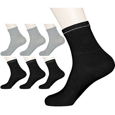"""6 Pairs Womens Solid Diabetic Socks /""""Skin contact surface is 100/% cotton/"""" M Size"""