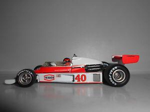 Mclaren Ford M23 Gilles Villeneuve # 40 Gp britannique 1977 1:43 Pas de modèle