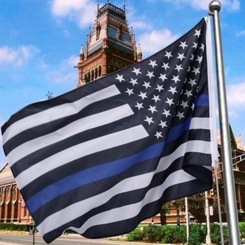 Blue Lives Matter Police USA American Thin Blue Line Flag NEW QK