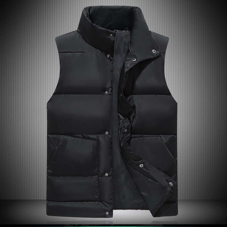 Új mellény puffy bélelt pamut téli dzseki steppelt ujjatlan felső kabát