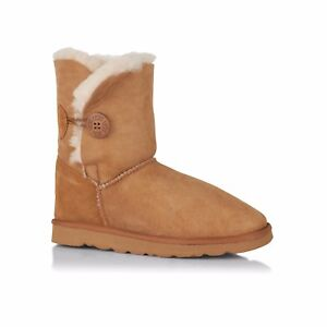 Image is loading Sheepskin-Ugg-Boots-Classic-Ugg-Australia-1-Button-