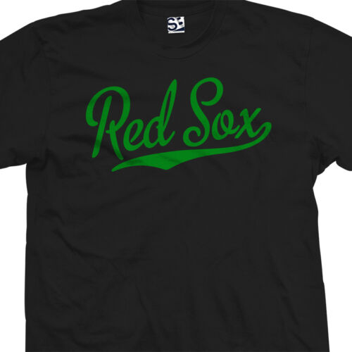 High School Sports Baseball Red Sox Script Tail T-Shirt All Sizes /& Colors