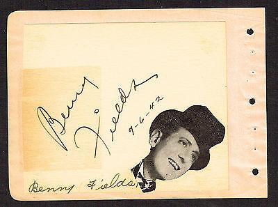 & Dorothy Dunn Unterzeichnet Autogramm 4x5 Album Seite B4 d.1959 FäHig Benny Felder