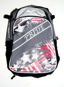 Image Is Loading Mizuno 360255 Pride Grey Navy Backpack Batpack Baseball