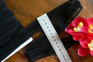 Threaded-Cotton-Lace-Braid-BLACK-32mm-wide-4-Metre-Length-Sunrise-ch112