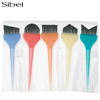 SIBEL 5 PIECE BALAYAGE COLOUR TINT BRUSH FOR HAIR DYING/COLOURING SALONS BRUSHES
