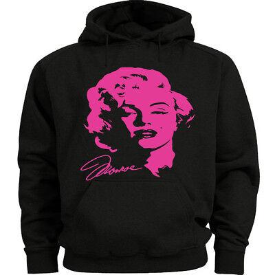 Neon Pink Marilyn Monroe decal Sweatshirt Men/'s Size Hoodie
