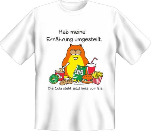 Fun Ernährung umgestellt Fun T-Shirt Grössen S-M-L-XL-XXL