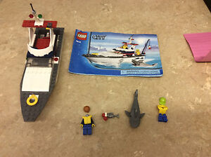 Lego city fishing boat 4642 incomplete set see pics ebay for Fishing lego set