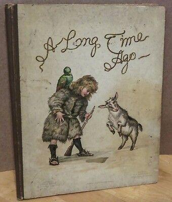 c1892  Childrens Book MRS. OSCAR WILDE A Long Time Ago CHROMOLITHOGRAPHS