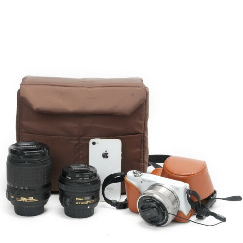 Cámara SLR Divisor de cámara caso inserto Acolchado Bolsa Protectora Para DLSR s TLR