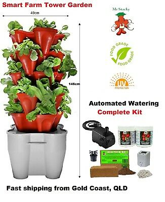Smart Farm Hydroponic Tower Garden - Automated Electric ...