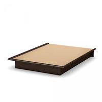 Modern Bedroom Furniture Queen Size Platform Bed Frame Brown Wood Foundation