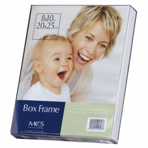 Crystal-Clear-Acrylic-Box-Picture-Frame-Heavy-Duty-w-White-Insert-Photo-Display