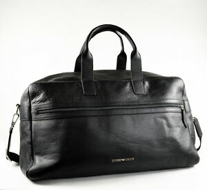 Emporio Armani Large Black Mens Brief-Case   Brief Case   Travel Bag ... 86f374f83d
