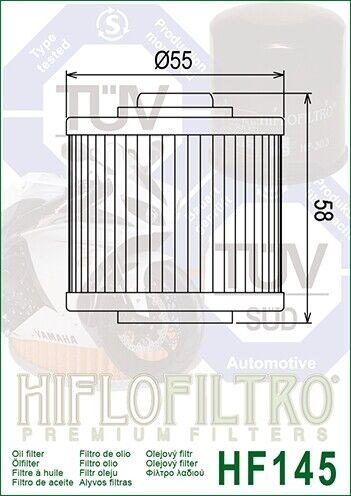 Filtro Olio HIFLO HF145 per Yamaha XC200 ZA,ZB 90-91