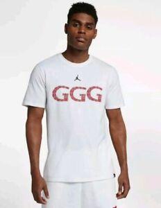Compulsión Separación Expulsar a  Nike Air Jordan Men's GGG Gennady Golovkin Boxing T Shirt Size Medium  Aq8818-101 for sale online   eBay