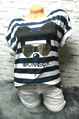 Italy New Collection oversize Shirt Sweatshirt Mickey Mouse  38 40 42 weiß Neu