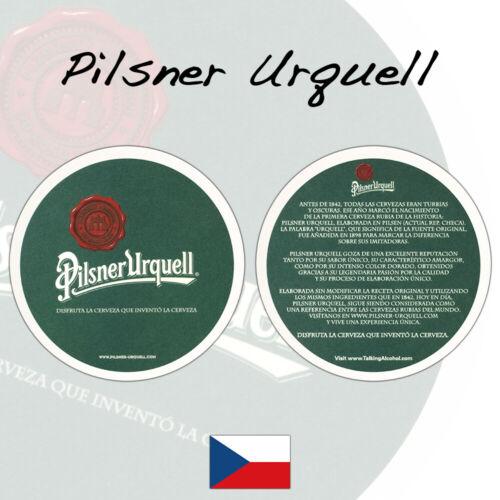 B24 3 Pilsner Urquell Beer Mats Coasters Czech RepublicUnused