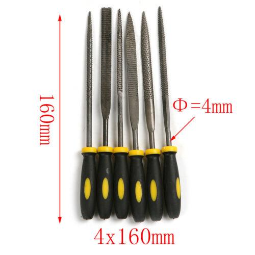 6Pcs Steel File Diamond Needle File Assorted Rasp Repair Tool L//M//S