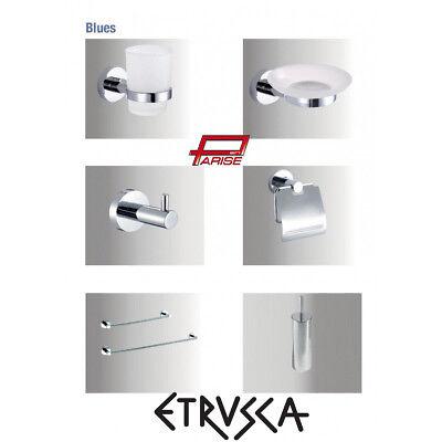 Accessori Bagno Etrusca.Set Accessori Bagno Etrusca Blues 8 Pz Acciaio Cromo Vetro Kit Completo 8 Pezzi Ebay