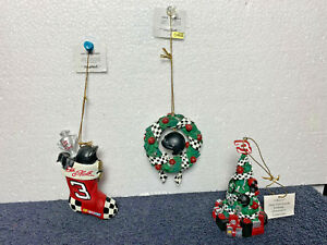 Hamilton Christmas Ornament.Details About Dale Earnhardt 3 Christmas Ornaments Hamilton 2001 Set 2 Of 7 Handpainted