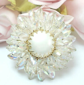 Image is loading Vintage-Costume-Jewelry-VENDOME -Clear-Crystal-Rhinestone-Brooch-  sc 1 st  eBay & Vintage Costume Jewelry VENDOME Clear Crystal Rhinestone Brooch Pin ...