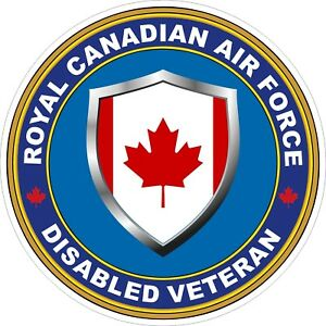 Royal-Canadian-Air-Force-RCAF-Disabled-Veteran-Vet-Decal-Sticker