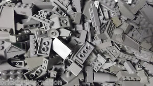 U-100-LIGHT-GREY-GRAY-LEGO-PIECES-FROM-HUGE-BULK-LOT-BRICKS-PARTS-RANDOM