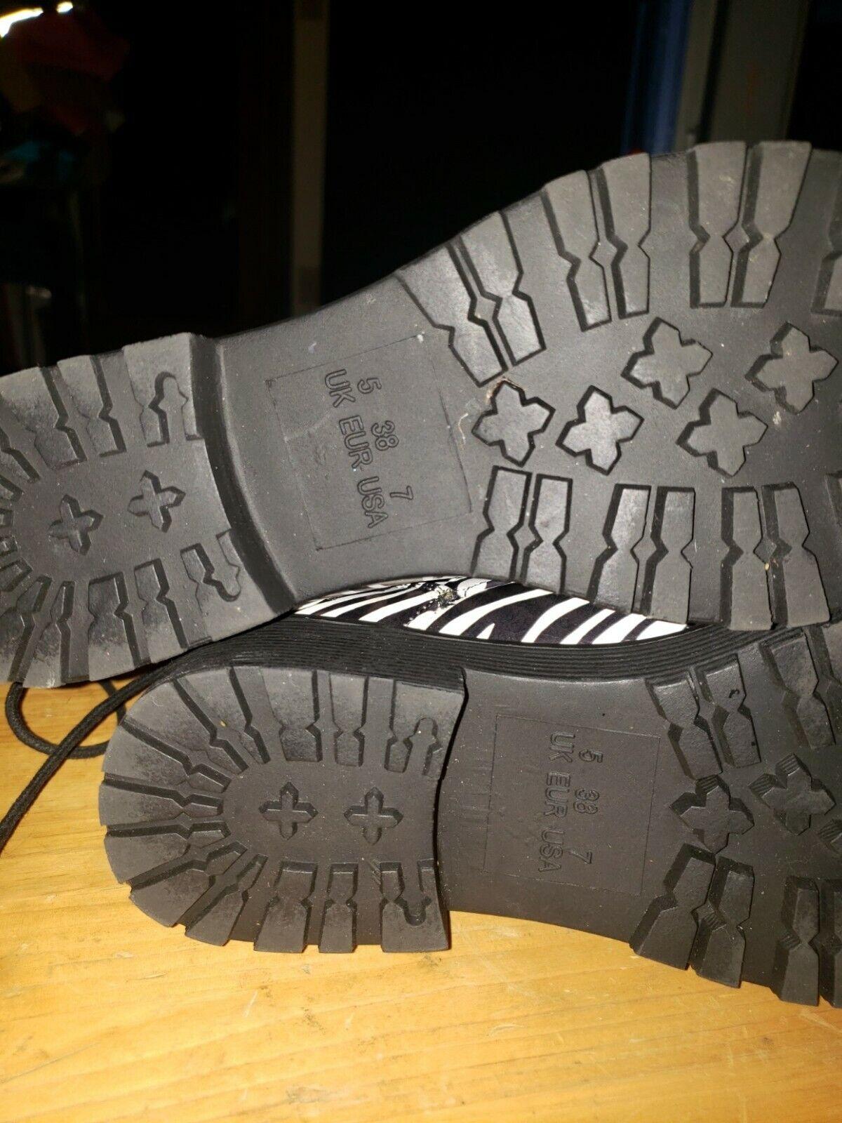 cinak mid calf zebra print womens size 7 boots - image 7