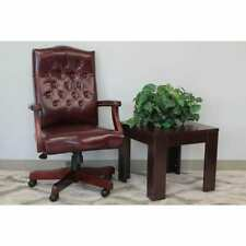 Boss Office Products Executive Chair Oxblood Vinyl Classic