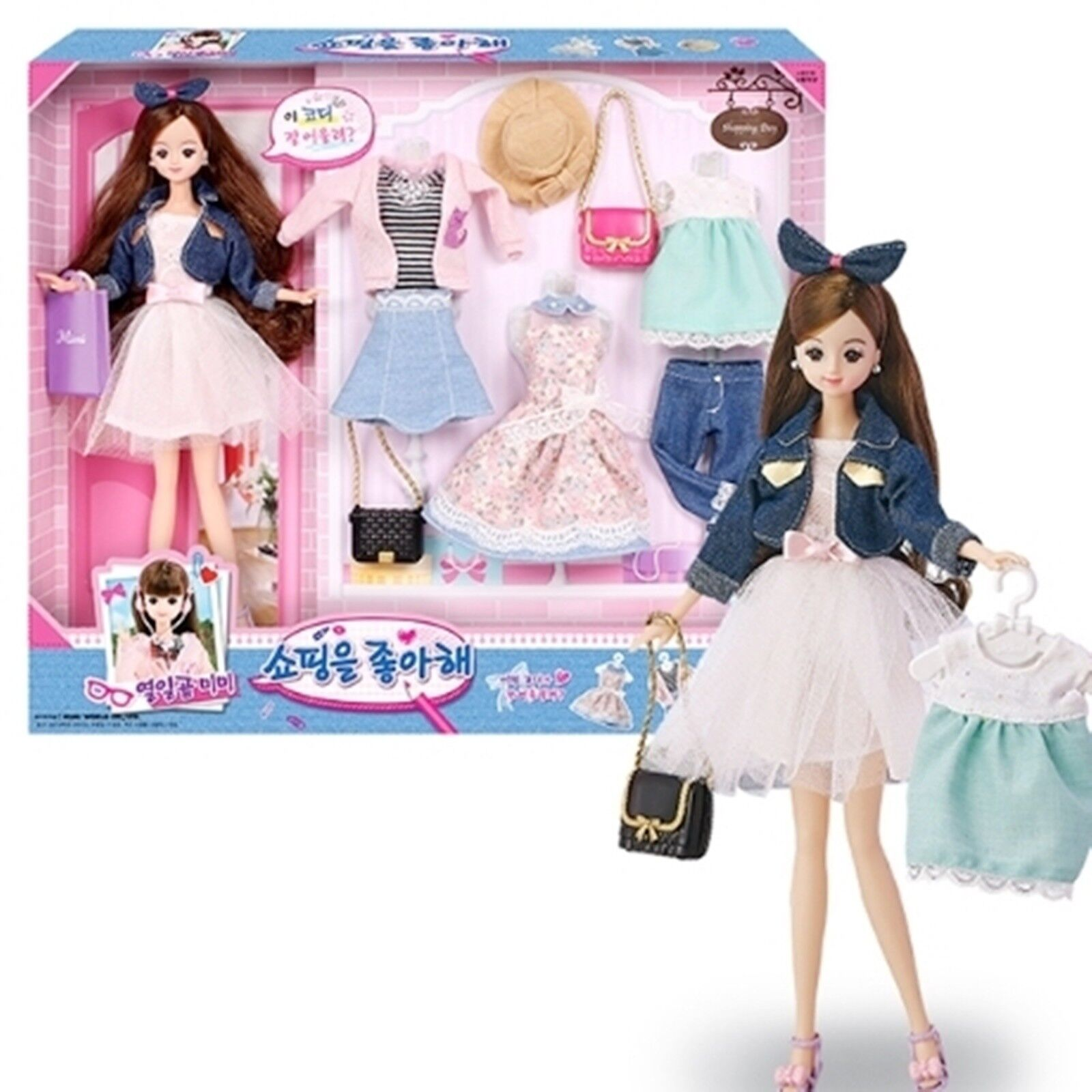 Seventeen MIMI Shopping Barbie Doll Coordination Play Character Figure toy girl