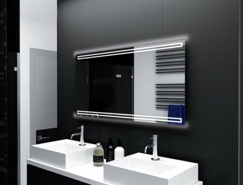 Badspiegel mit LED Beleuchtung Badezimmerspiegel Bad Spiegel Wandspiegel M124