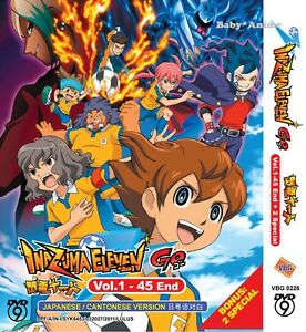 DVD-Anime-INAZUMA-ELEVEN-GO-Complete-Series-1-45-End-2-Specials-English-Sub