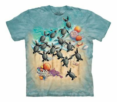 The Mountain Kid/'s 100/% Cotton Blue T-Shirt Tee Shark Moon Eyes Small S NWT