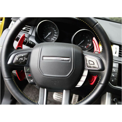 Red Steering Wheel Shift Gear Paddle Extension Fit Jaguar XF XJ F-Pace F-Type