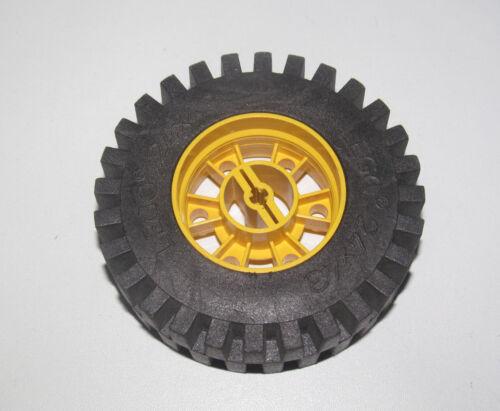 Lego ® Technic Roue Camion Jaune 3740 Pneu 24x43 Bulldozer Wheel 3739