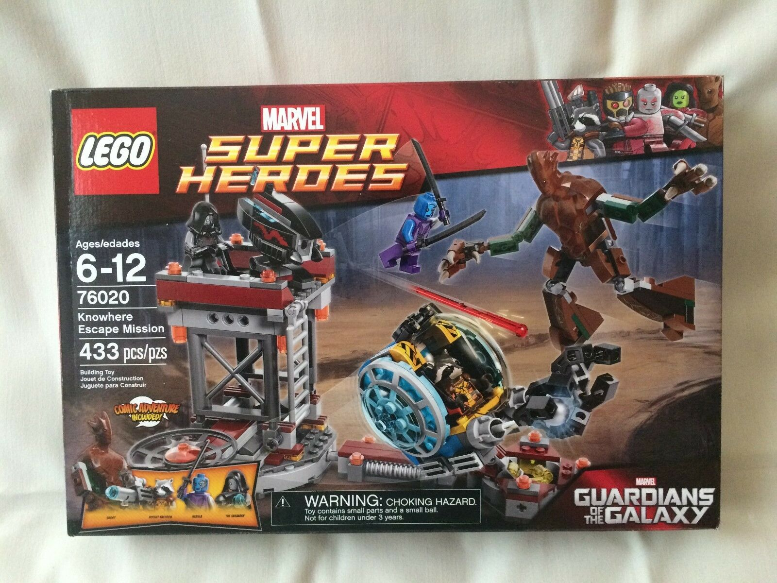 Lego 76020 Superheroes Knowhere Escape Mission set New Factory Sealed