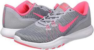 2392d14c51ce NIKE FLEX TRAINER 7 Gray   Racer Pink Women Running Sneakers Size ...