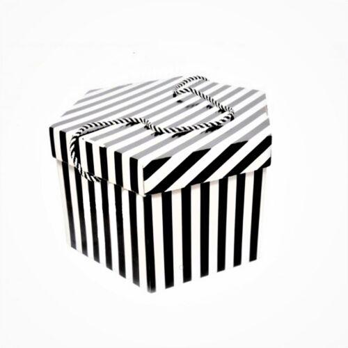 Small candy stripe fascinator box for millinery fascinators wedding hats HA027