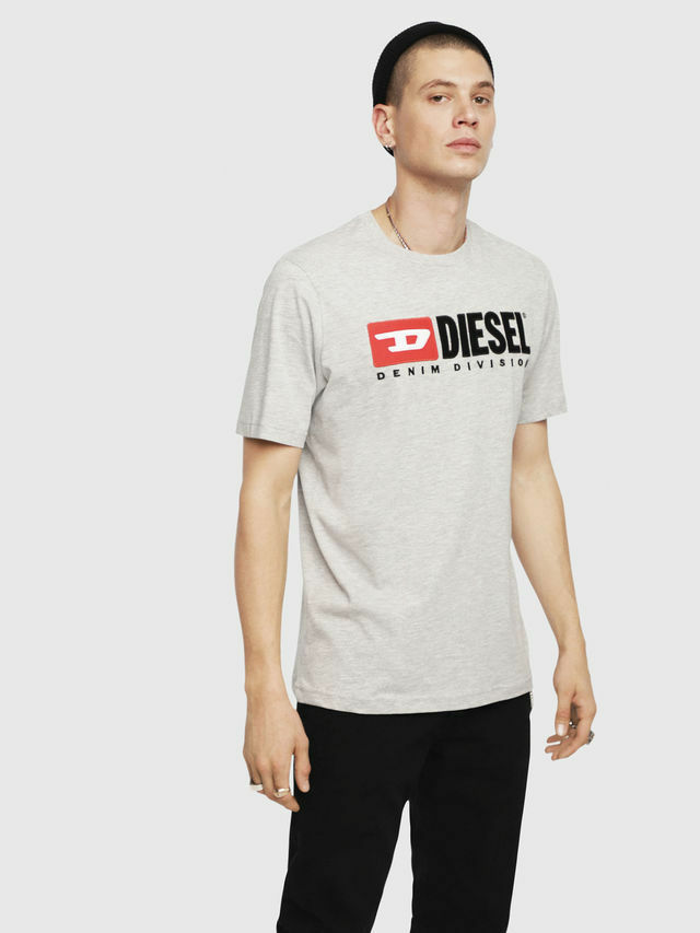 Diesel mens T-Just Division grey in Small RRP