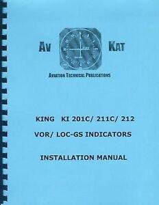 KING  KI  201C,  KI 211C,  &  KI 212   INSTALL MANUALS