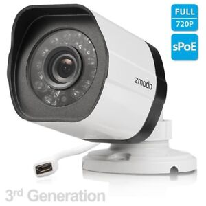Details about Zmodo 720p sPoE HD Outdoor IP Network Camera ZP-IBH15-S  Female MicroUSB 3rd Gen