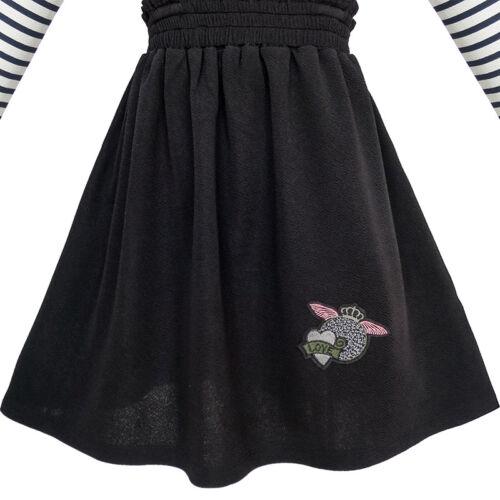 Sunny Fashion Girls Dress Suspender Skirt School Uniform Age 4-12 Years
